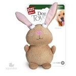Игрушка для собак Gigwi Кролик с пищалкой, 16 см.