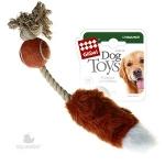 Игрушка для собак Gigwi Лисий хвост с пищалкой, 40 см.