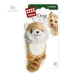 Игрушка для собак Gigwi Лисичка с 2-мя пищалками, 9 см.
