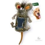 Игрушка для собак Gigwi Мышь с большой пищалкой, 33 см.