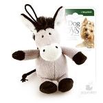 Игрушка для собак Gigwi Ослик с пищалкой, 10 см.