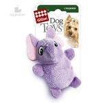 Игрушка для собак Gigwi Слон с 2-мя пищалками, 9 см.
