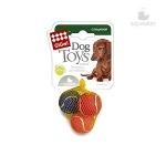 Игрушка для собак Gigwi Три мяча с пищалками, 4,8 см.