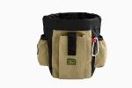 Сумочка для лакомств с карманами и клипсы для ремня Hunter Profi бежевая.