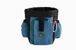 Сумочка для лакомств с карманами и клипсы для ремня Hunter Profi синяя.