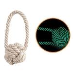 Веревка - плетеный мяч с петлей (светится в темноте), d50/200мм Triol.