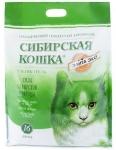 Наполнитель Сибирская кошка Элита зеленый силикагелевый, 16 л.