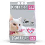 Наполнитель Cat Litter Silitter силикагелевый голубой, 10 л (4,15 кг).