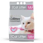 Наполнитель Cat Litter Silitter силикагелевый розовый, 3,8 л (1,58 кг).
