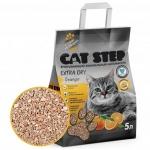 Наполнитель Cat Step Extra Dry впитывающий с ароматом апельсина, 5 л.