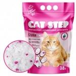 Наполнитель Cat Step силикагелевый розовый, 3,8 л.