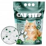 """Наполнитель Cat Step силикагелевый с ароматом """"Мята"""", 3,8 л."""