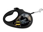 """Поводок-рулетка WAUDOG рисунок """"Бэтмен Черный"""", до 12кг*3м XS СКИДКА"""