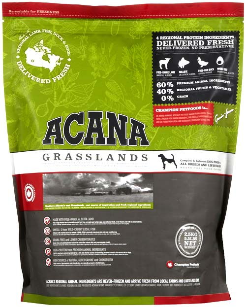 Acana Grassland Dogs сухой корм Акана для собак с ягненком