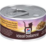 купить Hill's Ideal Balance Wet Cat консервы для кошек с курицей, вес 82 гр.