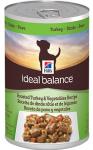 купить Hill's Ideal Balance Wet Dog консервы для собак с индейкой и овощами, вес 363 гр.